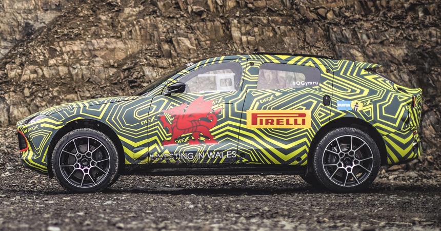 Внедорожник Aston Martin DBX показали на видео