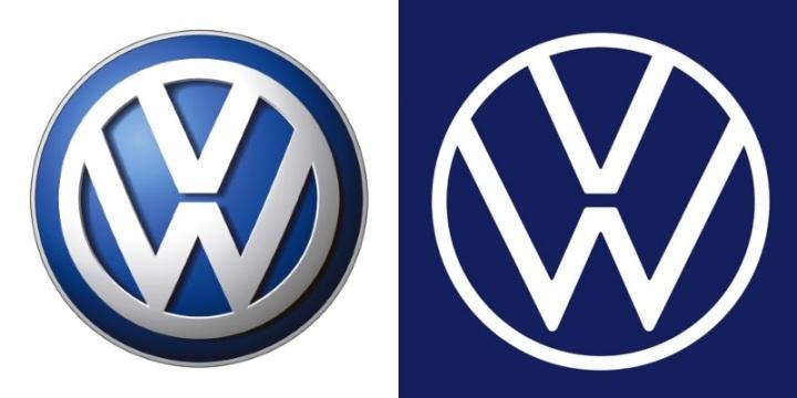 Старый и новый логотип Фольксваген - разница