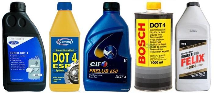 Виды типы тормозной жидкости DOT 5.1 DOT 4